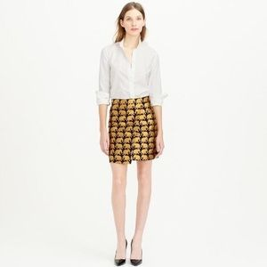 J. Crew Elephant Parade Skirt size 0